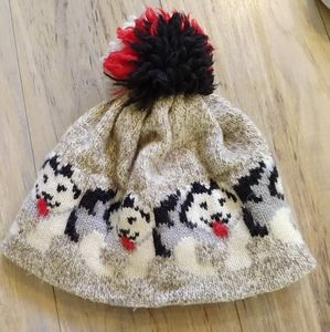Accessories - Knit Wool Wolf Hat